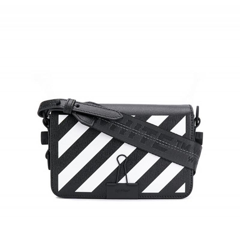 OFF-WHITE(オフホワイト) Mini Diag Binder clip Off-White bag画像