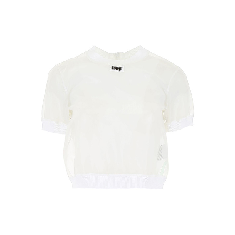 OFF-WHITE(オフホワイト) CROPPED T-SHIRT画像