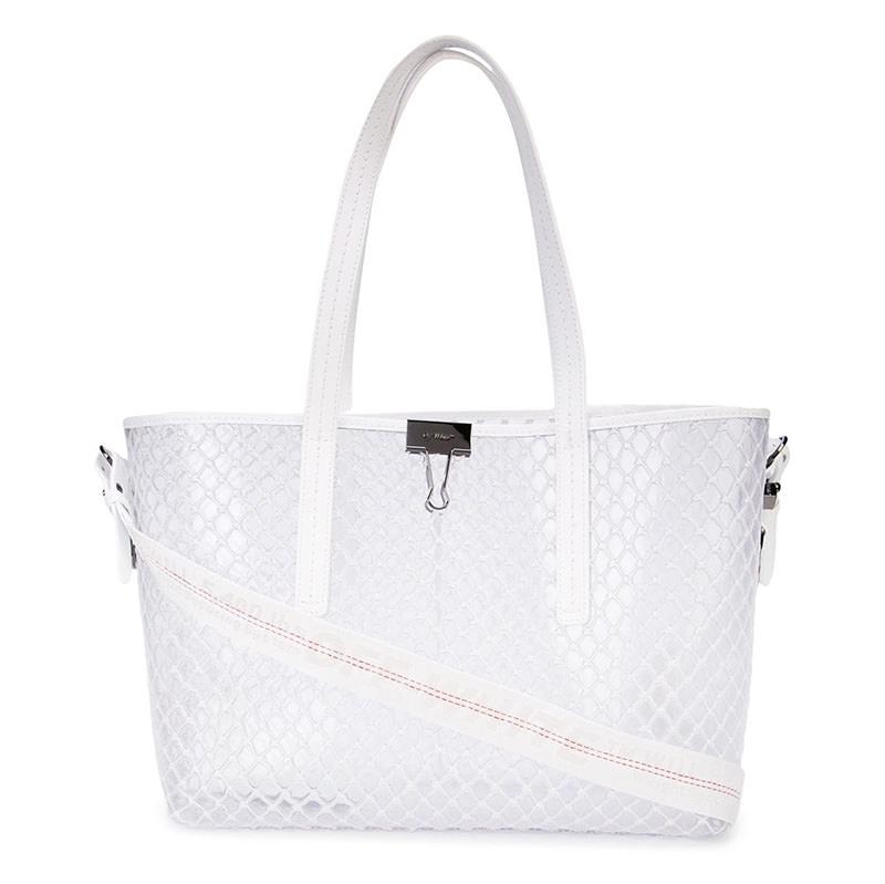 OFF-WHITE(オフホワイト) Off-White transparent mesh tote bag画像