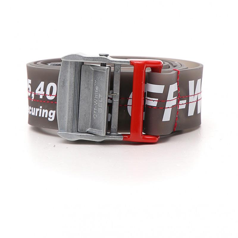 OFF-WHITE(オフホワイト) OFF-WHITE black rubber belt画像