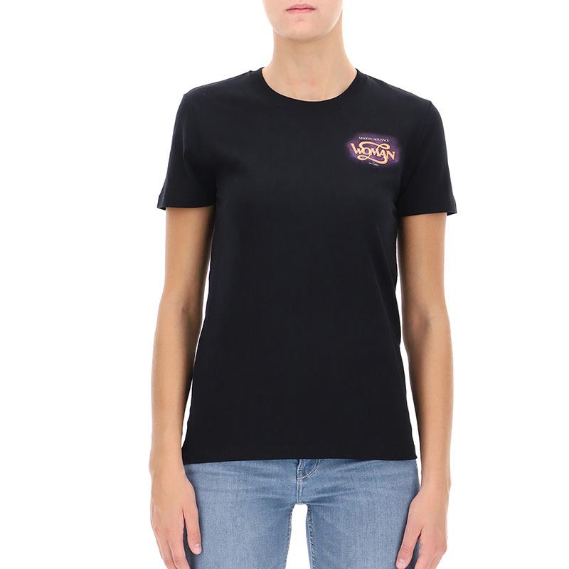 OFF-WHITE(オフホワイト) Black cotton T-shirt画像