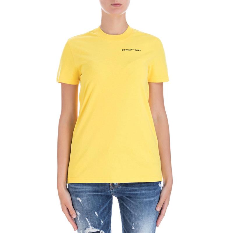 OFF-WHITE(オフホワイト) Yellow cotton t-shirt画像