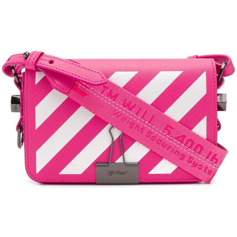 OFF-WHITE(オフホワイト) Diagonal stripe mini crossbody bag画像