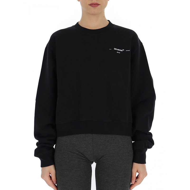 OFF-WHITE(オフホワイト) OFF-WHITE black cotton sweater画像