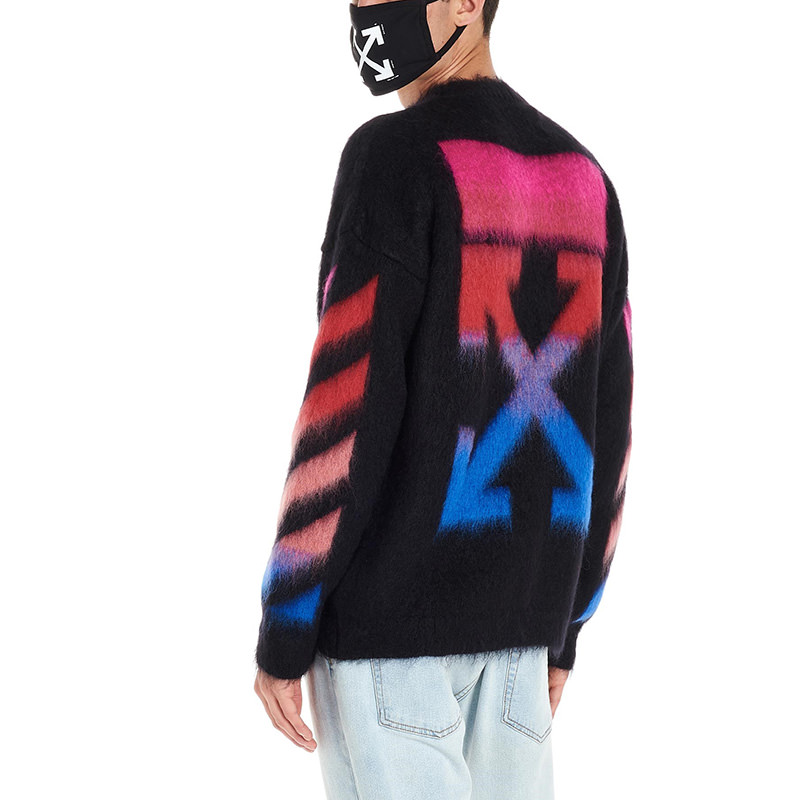 OFF-WHITE(オフホワイト) Maglione Diagonal brushed mohair画像