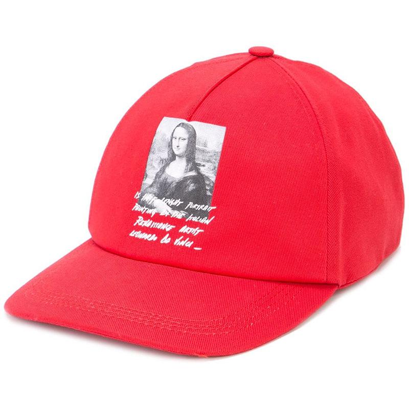 OFF-WHITE(オフホワイト) Mona Lisa printed Off-White baseball cap画像