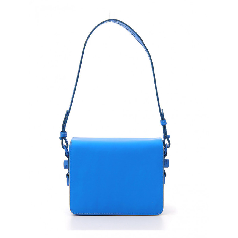 OFF-WHITE(オフホワイト) OFF-WHITE light blue leather shoulder bag画像