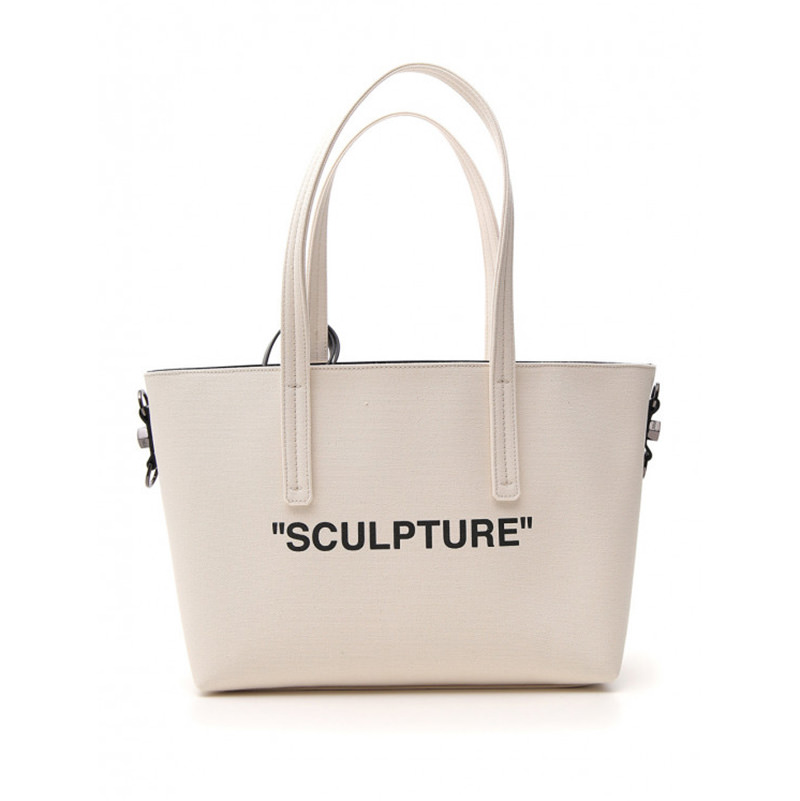 OFF-WHITE(オフホワイト) OFF-WHITE Sculpture beige fabric tote画像
