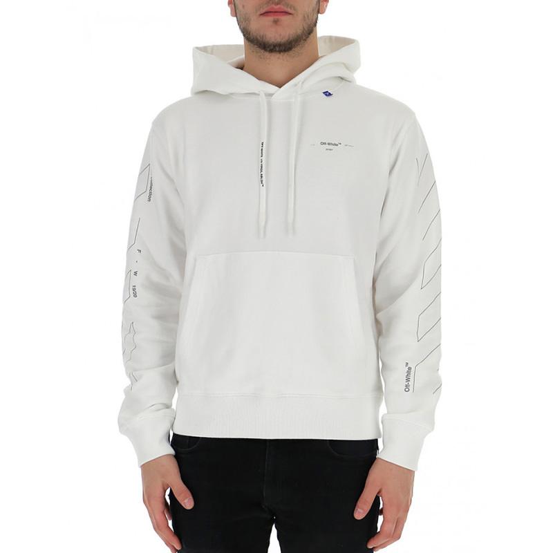 OFF-WHITE(オフホワイト) OFF-WHITE white cotton sweatshirt画像