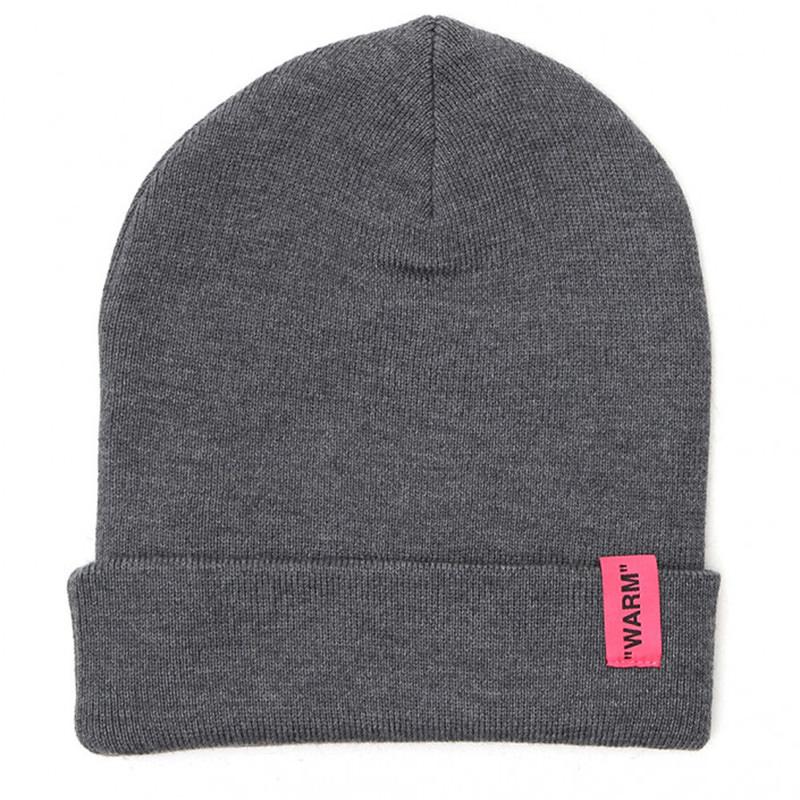 OFF-WHITE(オフホワイト) OFF-WHITE grey wool hat画像