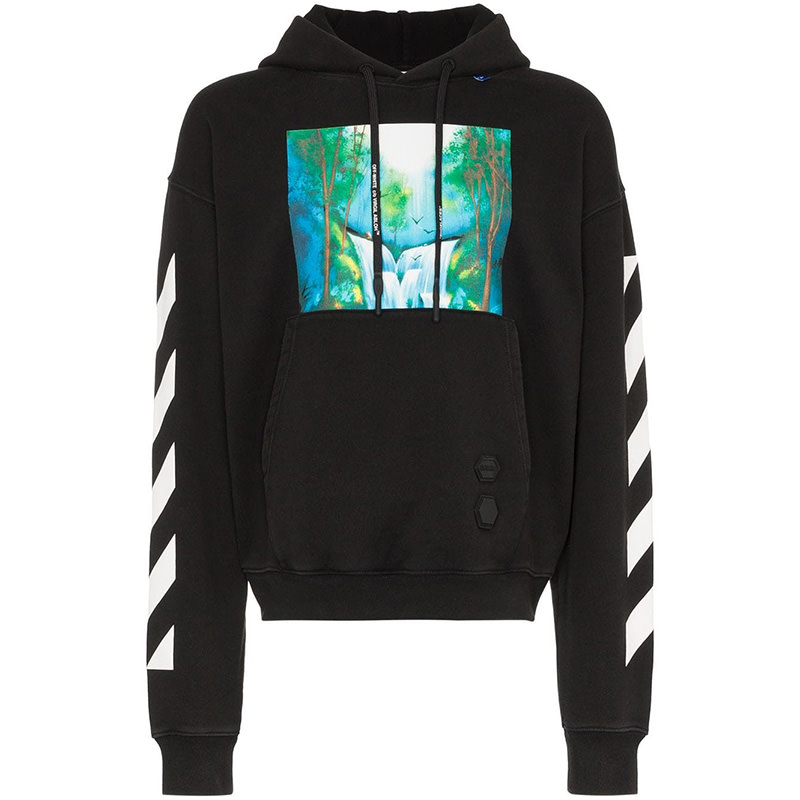 OFF-WHITE(オフホワイト) Off-White Diag Waterfall oversized hoodie画像