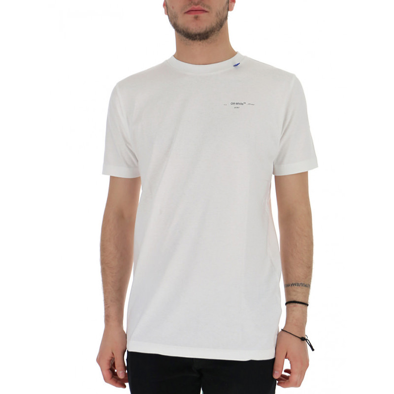 OFF-WHITE(オフホワイト) OFF-WHITE white cotton t-shirt画像