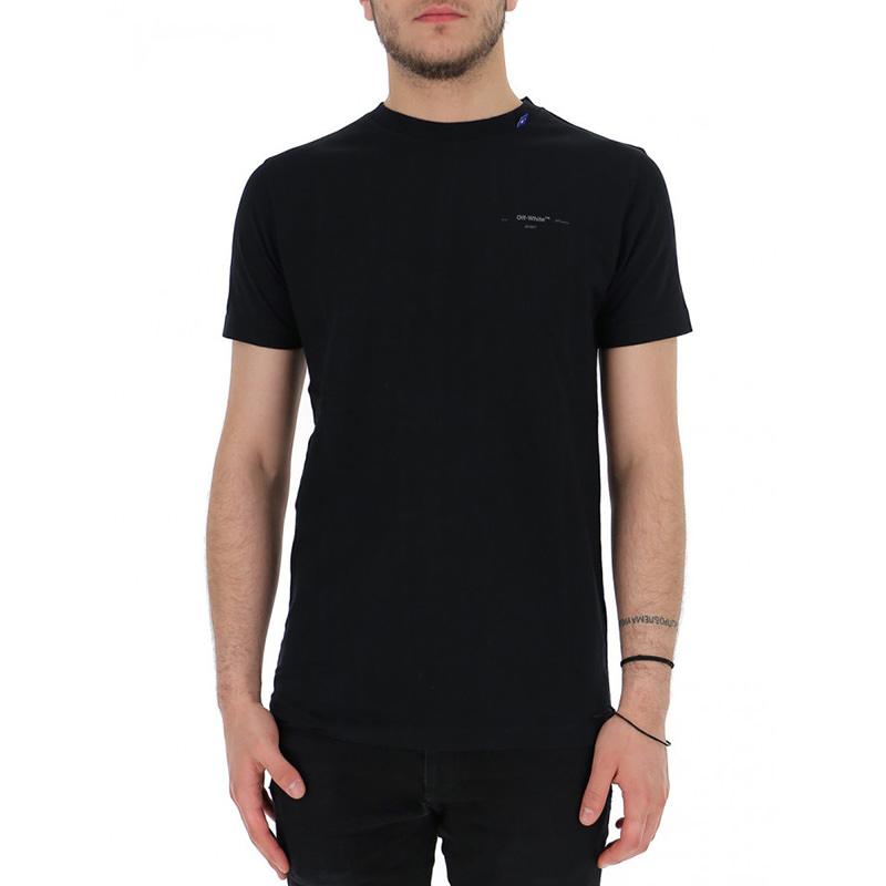 OFF-WHITE(オフホワイト) OFF-WHITE black cotton t-shirt画像