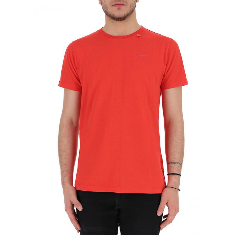 OFF-WHITE(オフホワイト) OFF-WHITE red cotton t-shirt画像