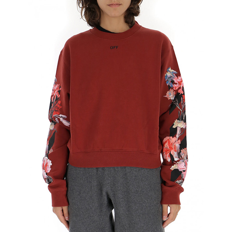 OFF-WHITE(オフホワイト) OFF-WHITE red cotton sweater画像