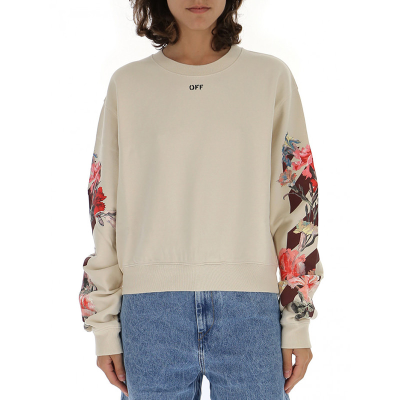 OFF-WHITE(オフホワイト) OFF-WHITE white cotton sweater画像