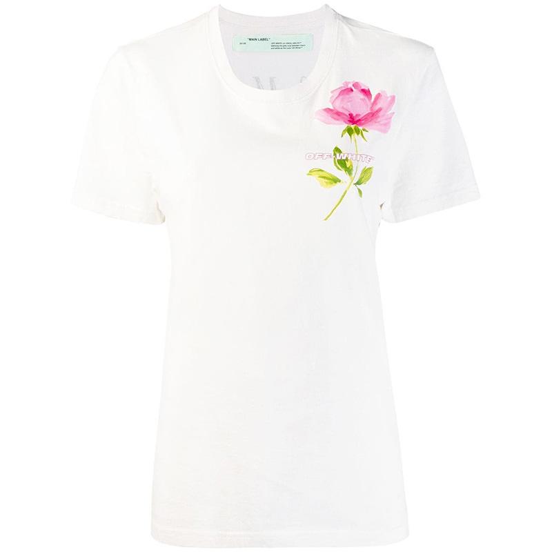 OFF-WHITE(オフホワイト) Off-White Flowers short sleeves T-Shirt画像