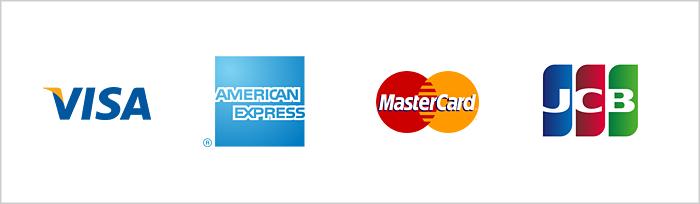 クレジットカード支払い(VISA、Master Card、American Express、JCB)